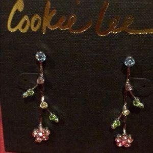 Cookie Lee Pierced Earrings. NWT